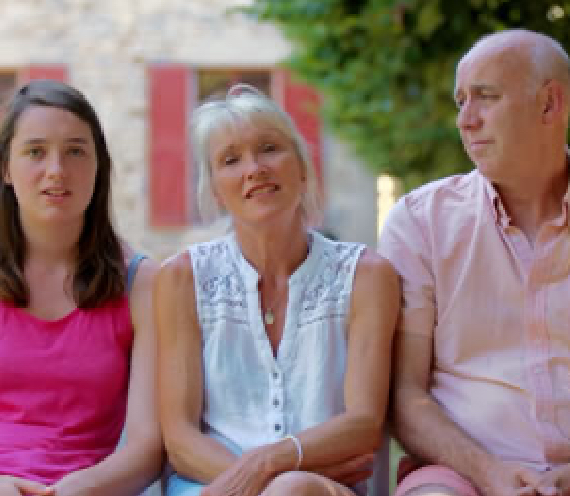 Abbie, Clive and Karen - Chateau du Doux