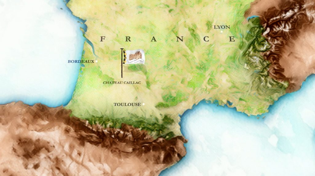 Chateau Caillac map