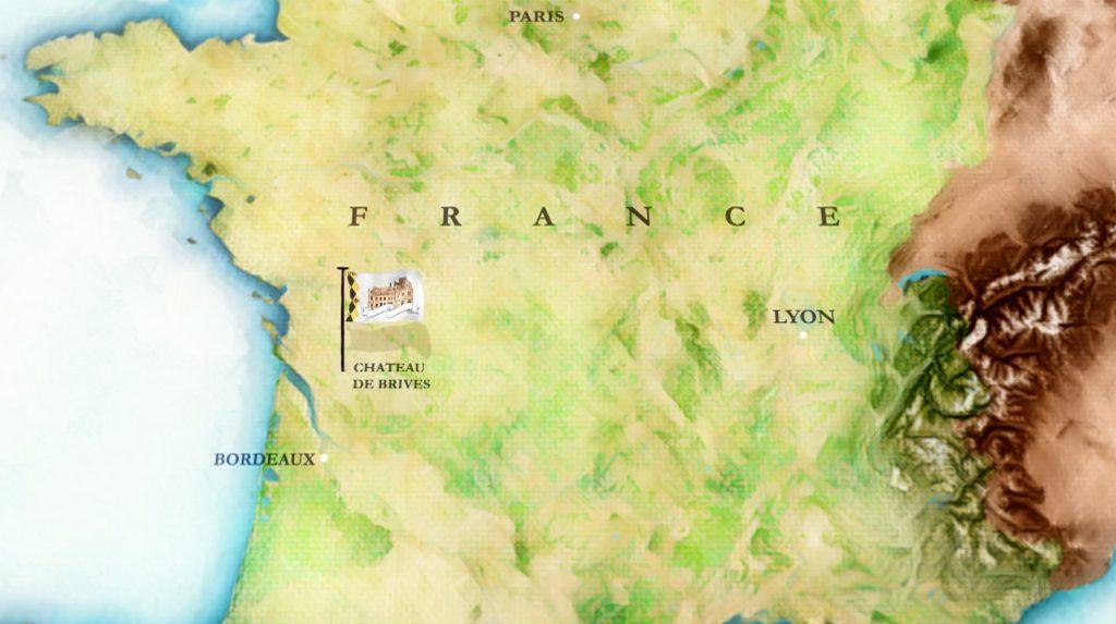 chateau de brives map