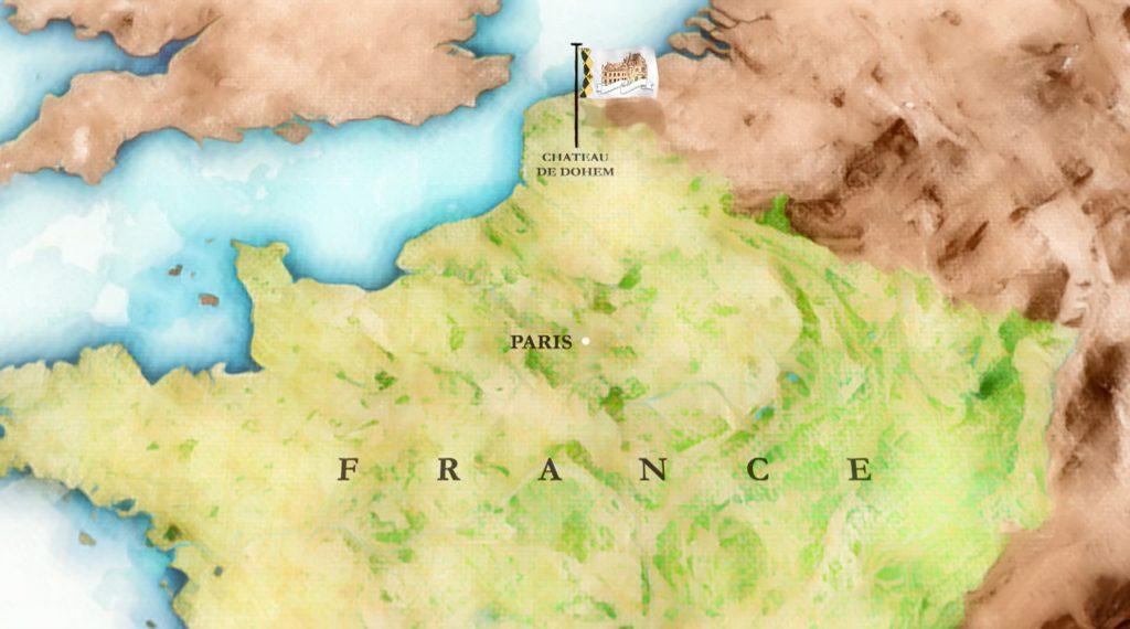Chateau de Dohem map